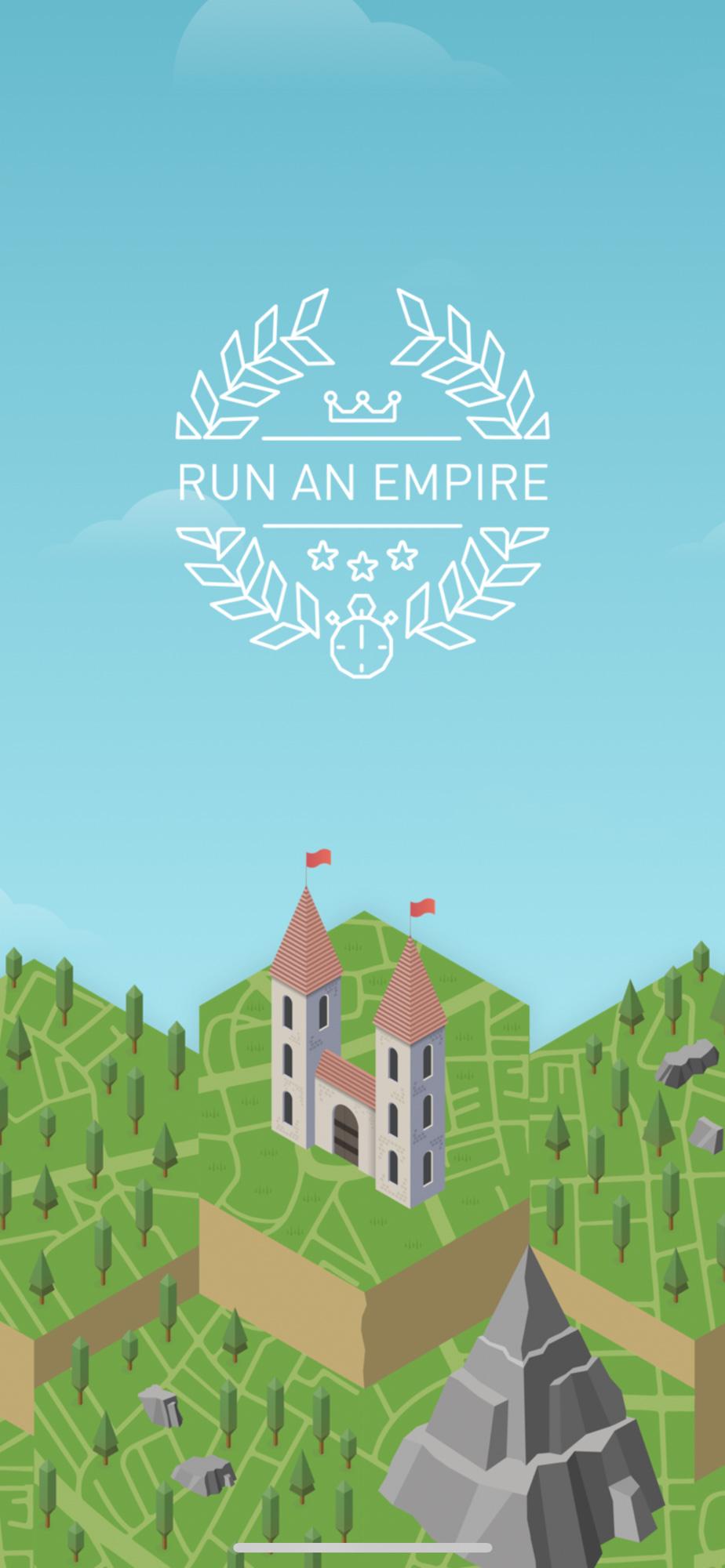 Ecran de chargement de l'application Run an Empire