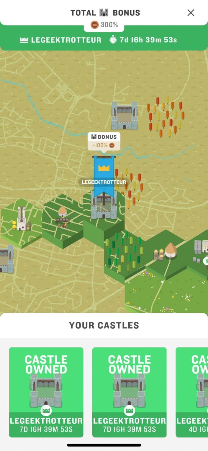 Il est possible de capturer des châteaux (ce qui donne un bonus de pièces)