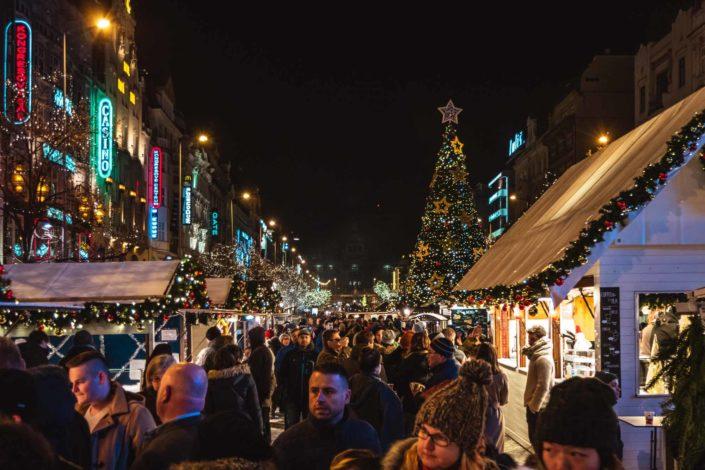 Marché de Noël de la place Venceslas à Prague