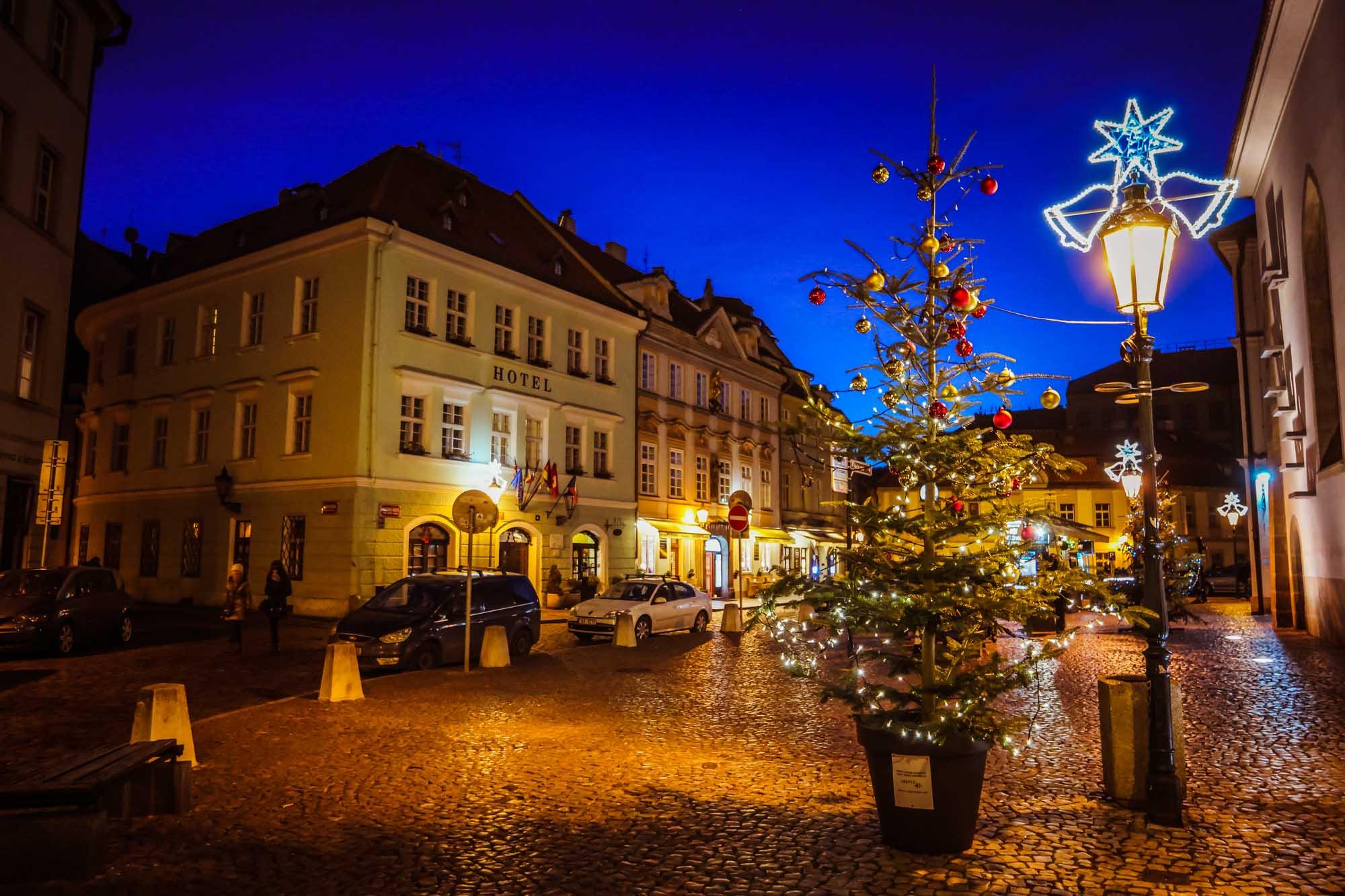 Les ruelles joliment décorées pour Noël