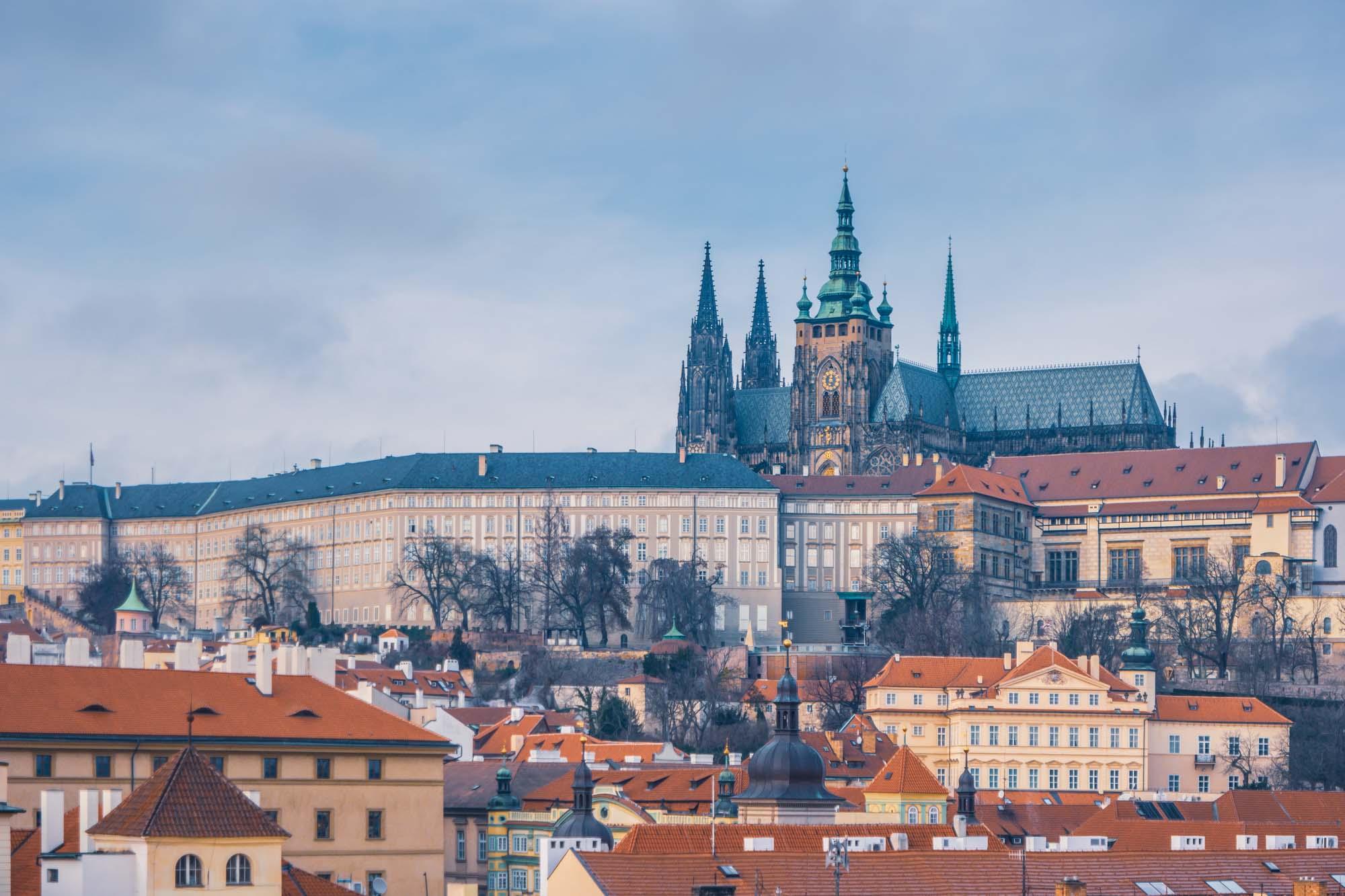 Vue sur le château de Prague