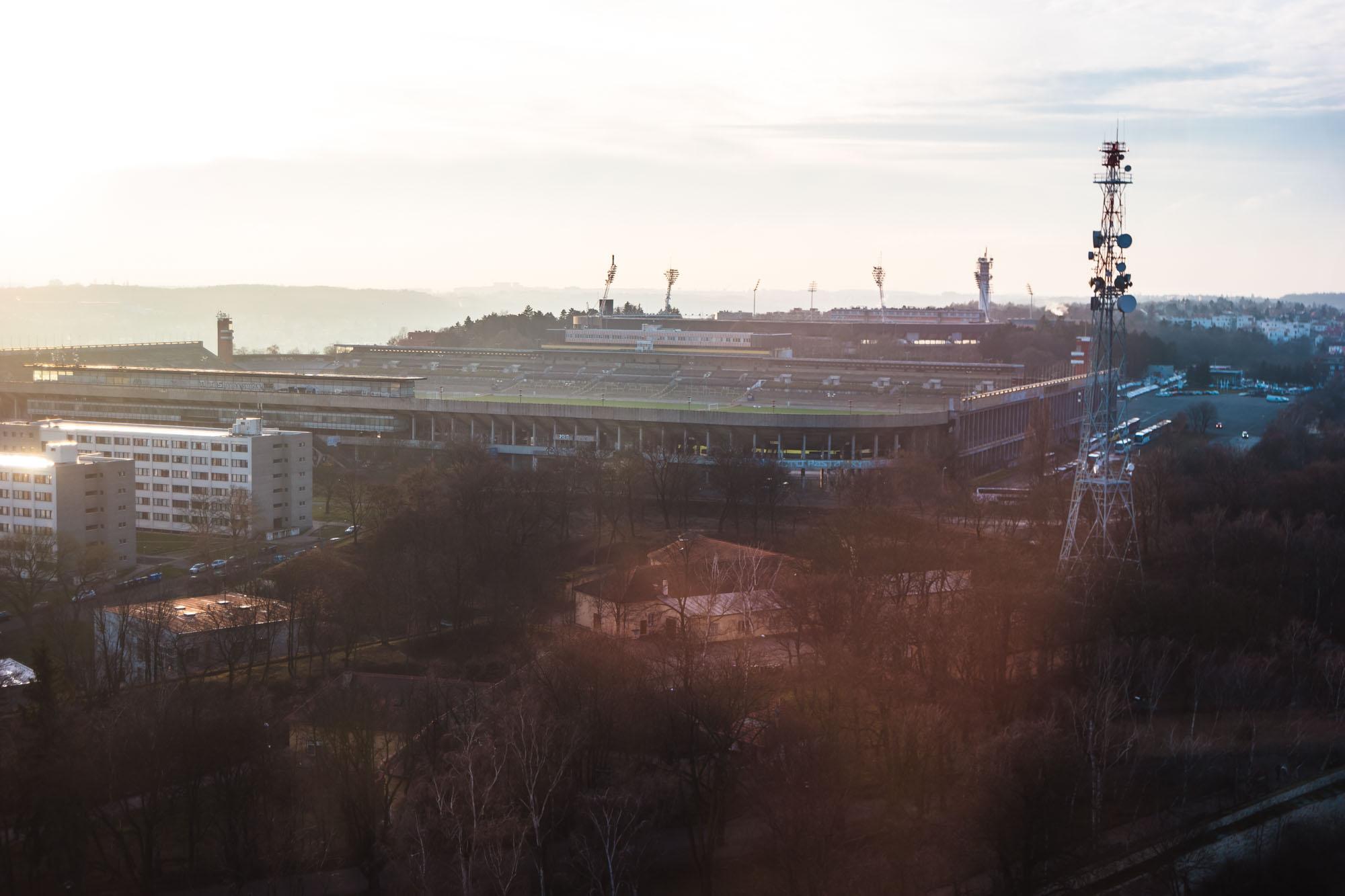 Le stade de Strahov à Prague