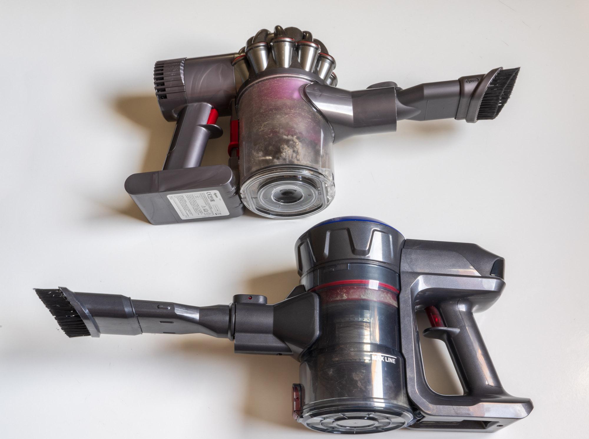 L'aspirateur sans-fil Dibea D18 sans la rallonge
