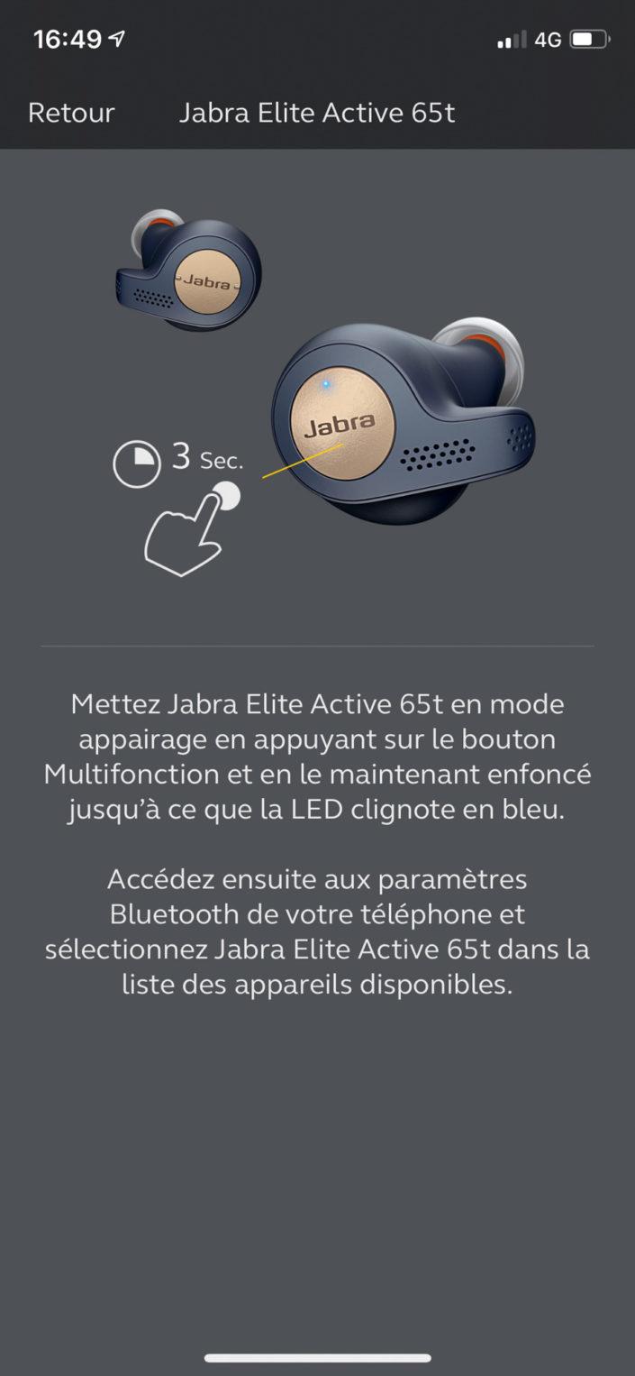 Application Jabra Sound+ - appairage