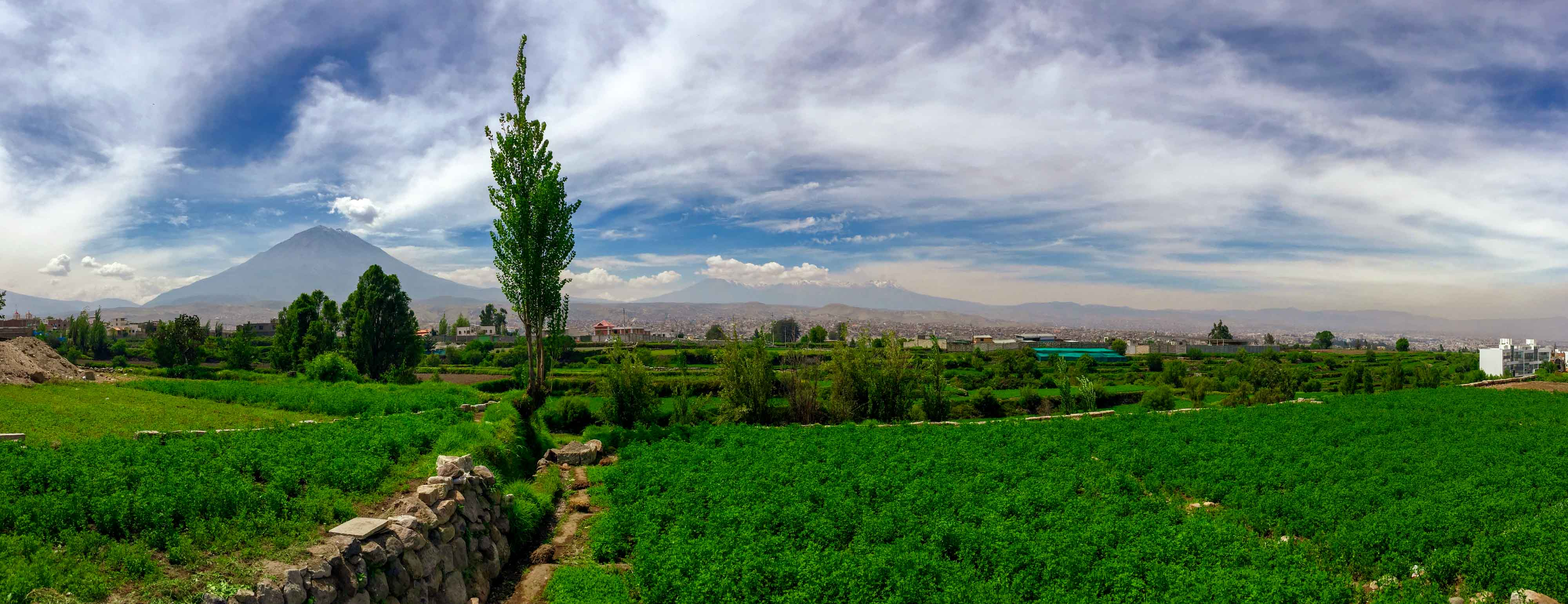 Panorama sur toute l'étendue de la ville d'Arequipa