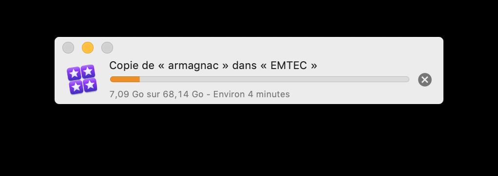 Quel confort de pouvoir copier un projet FCPX aussi rapidement !